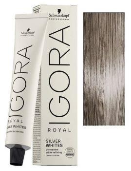 Schwarzkopf Igora Royal Absolute SilverWhite 60ml - barva pro stříbrné a  bílé vlasy - Dove Grey 4a4017a93f